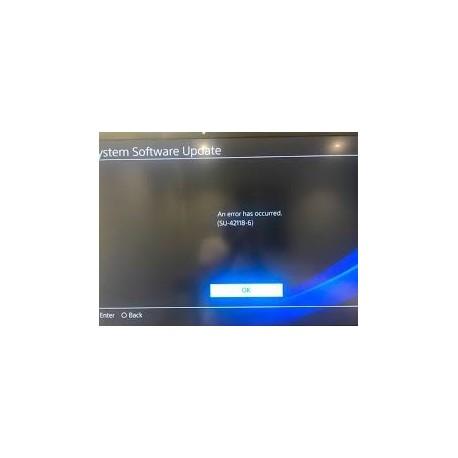 Reparar Error actualizacion PS4 SU-42118-6
