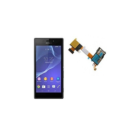 Cambiar reparar lector sim + sd Sony xperia M2